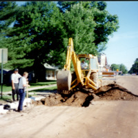 Downtown Kingsley repavement, ca. 1990