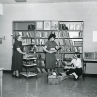 Volunteers and staff of Peninsula Community Library, 1957