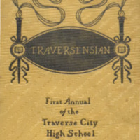 "Traverse City High School Yearbook, ""Traversensian,"" 1900"
