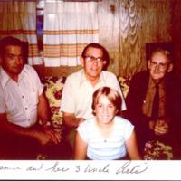 Art Wilkins, Art Secor, Art Kratochvil, and Denise Johnson, ca. 1970