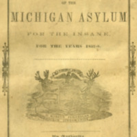 Report of the Board of Trustees of the Michigan Asylum for the Insane for the years 1857-1858.