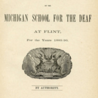 Nineteenth biennial report of the Board of Trustees of the Michigan School for the Deaf at Flint, for the years 1889-90