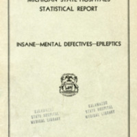 Michigan State Hospitals Statistical Report, 1931-1934