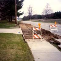 New sidewalk on Fenton Street, ca. 1990